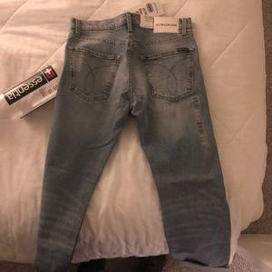 Calvin Klein Jeans Jeans - CALVIN KLEIN LIGHT WASH DENIM JEANS